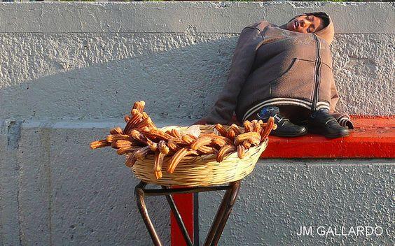 Dulce Angel -Mexico DF - El marchante de los churros