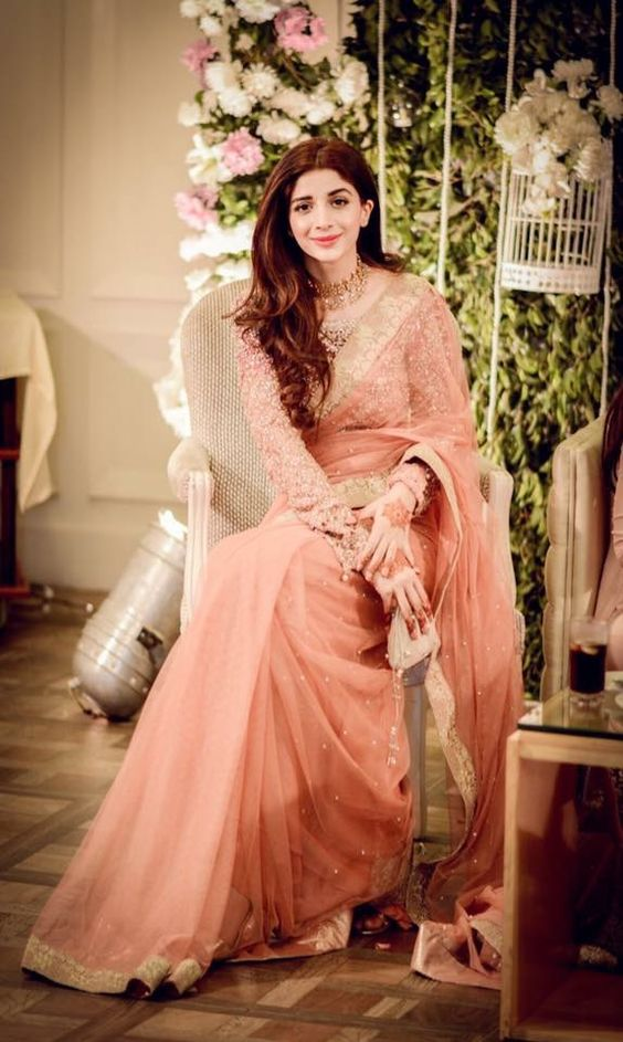 Pink Saree for brides by Faraz Manan