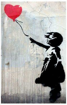 Banksy Graffiti Balloon Girl Street