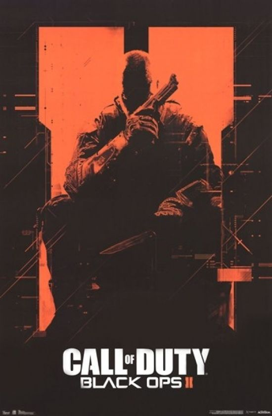 Call Of Duty Black Ops Ii Orange Poster Print 24 X 36 Call Of Duty Black Call Of Duty Call Of Duty Black Ops 3