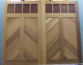 Chevron garage doors! Great look painted or stained or striped!
