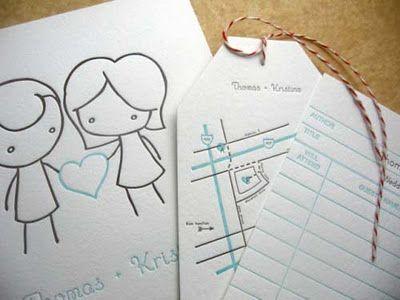 Coisas da Deinhah: Convites de casamento criativos - via http://bit.ly/epinner