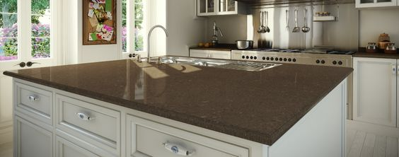 Cesaer Stone Bench Top Wild Rice Kitchen Pic