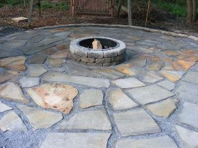 make a flagstone patio, concrete masonry