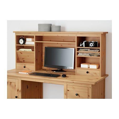 Hemnes Add On Unit For Desk Black Brown 59 7 8x24 3 4 Ikea In 2020 Hemnes Ikea Ikea Hemnes