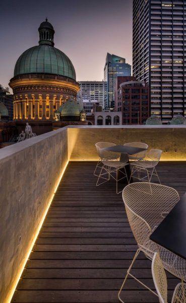 Indirekte Patio Beleuchtung Voller Komfort Auf Der Terrasse Oder Balkon Neu Haus Designs Terrassenbeleuchtung Hinterhofbeleuchtung Solarleuchten Garten