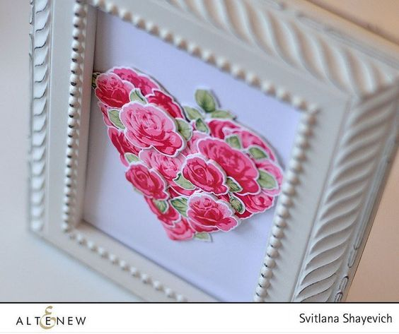 Svitlana(@izo_lda) is on the blog with some beautiful Valentine decoration idea you don't want to miss. Click the link in profile to see more. #altenew #papercraft #homedecor by altenewllc