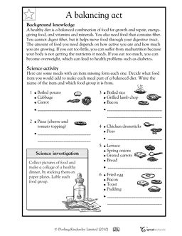 Printables Printable Health Worksheets science topics free printables and children on pinterest a healthy diet is balancing act worksheets activities