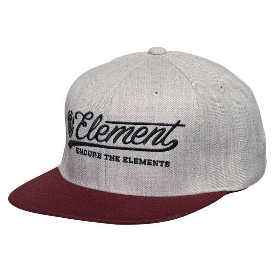 Casquette Element Legacy Cap Starter snapback grey heather casquette de skate…