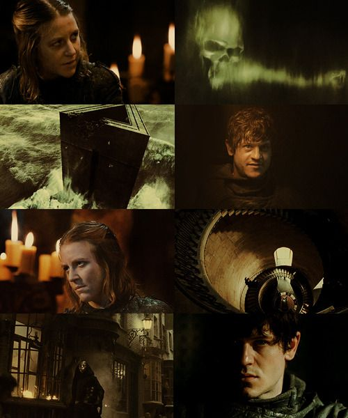 Marauders Era Dreamcast Iwan Rheon As Amycus Carrow And Gemma Whelan As Alecto Carrow Harry Potter Fantastic Beasts The Marauders Harry Potter Characters