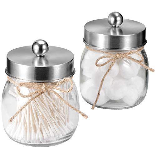 Sheechung Apothecary Jars Set Mason Jar Decor Bathroom Va Https Www Amazon Com Dp B07n7hyhv3 Ref Cm S Mason Jar Decorations Apothecary Jars Decorated Jars