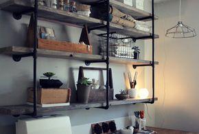 estantes de ferro com prateleiras em madeira - Pesquisa Google
