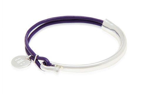Meuse Purple Leather Bracelet