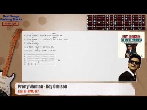 Pretty Woman Roy Orbison Guitar Backing Track With Chords And