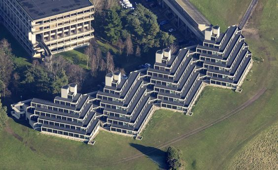 Campus designed by Denys Lasdun, Norwich