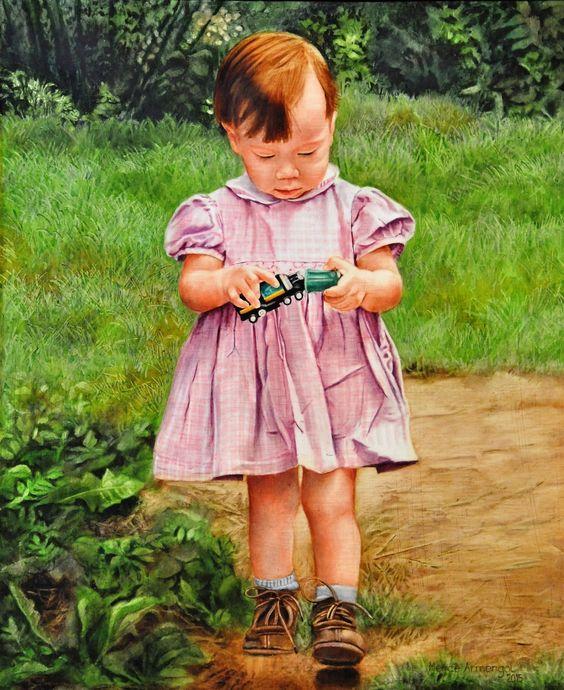 NATASHA (2015) FIGURA 60X50cm OLI SOBRE FUSTA ENTELADA  #barcelona #mercearmengol #artista #ilustradora #pintora #cuento #infantil #retrato #retratoporencargo