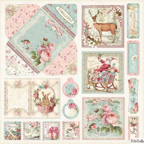 12x12 Paper Pad Pink Christmas 10 Double Sided Sheets By Stamperia For Scrapbooks Cards Crafting Paper Pads Paper Crafts Pink Christmas