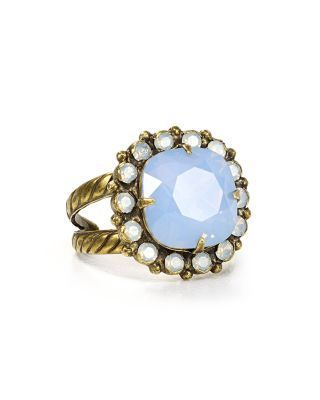 An exclusive mix of pastel blue Swarovski crystals add a dazzling finish to this cocktail ring. #sorrelli #bloomingdale's #sparkle #cloudnine #collection     Sorrelli Cushion Cut Crystal Ring - 100% Bloomingdale's Exclusive   Bloomingdale's