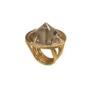 anel cone fume com safiras 2