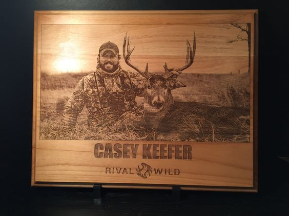 Personalized Laser Engraved Hunting Photo onto Plaque by HintsLaserEngraving on Etsy https://www.etsy.com/listing/228472151/personalized-laser-engraved-hunting
