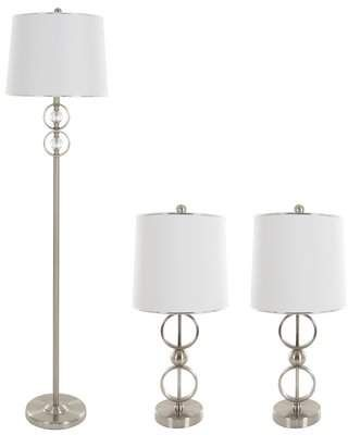 Lavish Home Floor And Table Lamp Set Lamp Sets Table Lamp Sets