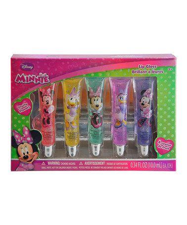 Look what I found on #zulily! Minnie Glitter Lip Gloss Set by Minnie Mouse #zulilyfinds