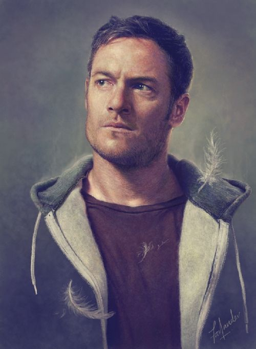 darthfar:  Gadreel (Tahmoh Penikett), from Supernatural Season 9. Yet another portrait study that may or may not have gotten slightly out of hand.Left out the jacket body for no better reason than, This has gone far enough and Oh hey, this looks rather nicely unreal. Deal with it. ;)