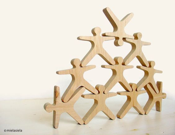 Stacking Toy Puzzles : Balancing game wooden toy balance and