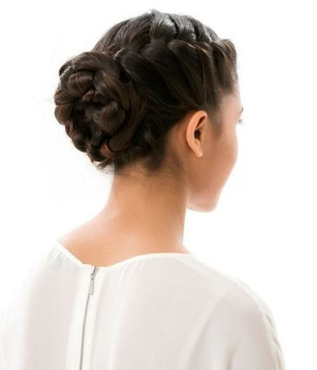 Formal French braided bun updo