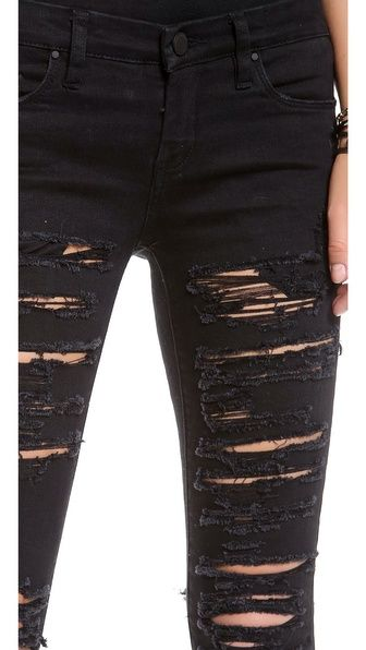 Ripped Skinny Jeans   My Style   Pinterest   Costume ideas Ripped