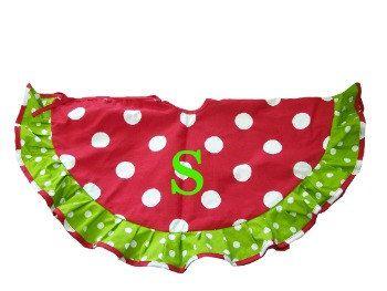 Adorable Christmas tree skirt.