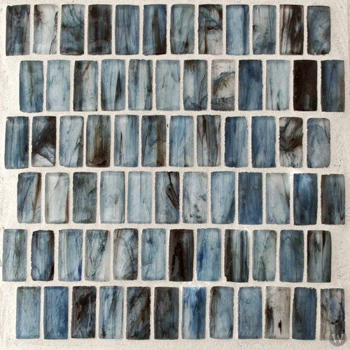 Tea Kettle Glass Tile 11 7 X 11 7 Blue Lady Glass Mosaic