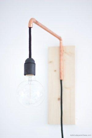 DIY ] Une lampe articulée cuivrée dans un esprit récup