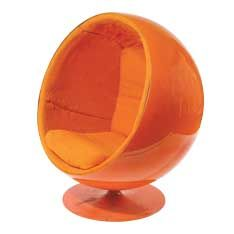 Eero Aarnio Ball Chair . A classic piece. We have an original from the 60's but we also hire replica's in white and black  www.valiant.com.au