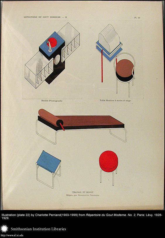 Illustration (plate 22) by Charlotte Perriand (1903-1999), Image number.