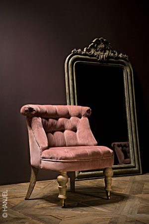 Petit fauteuil crapaud rose - le boudoir de madame mode