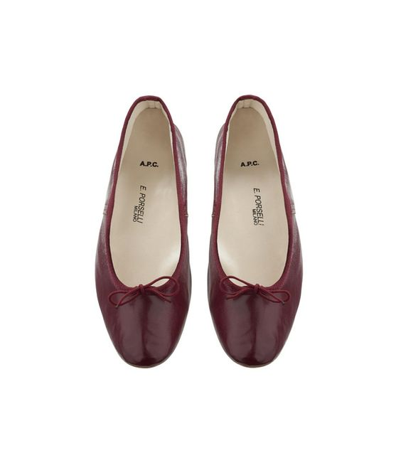A.P.C x Porselli Lie de Vin Ballerinas cannot wait to wear these in the fall