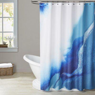 Brayden Studio Deb Mcnaughton Single Shower Curtain In 2020 Shower Curtain Modern Shower Curtains Curtains