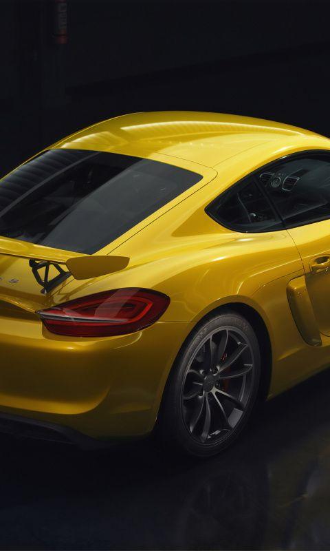 480x800 Porsche Rear View Yellow Car 2019 Wallpaper Porsche Car Wallpapers