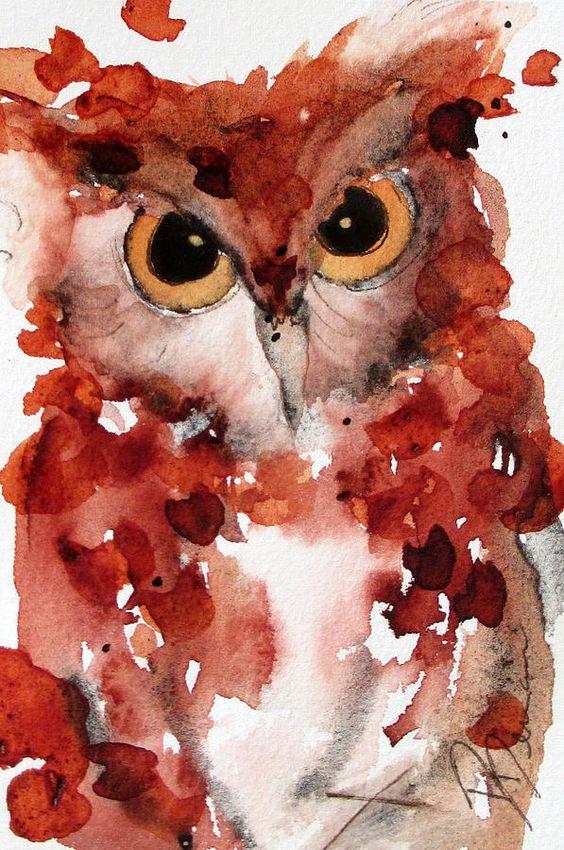 Screech Painting  - Screech Fine Art Print by Dawn Derman