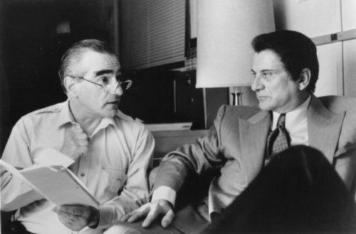 Joe Pesci and Martin Scorcese on the set of Casino