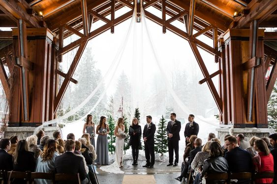Ditmer Winter Wedding Ceremony at Nita Lake Lodge 2018