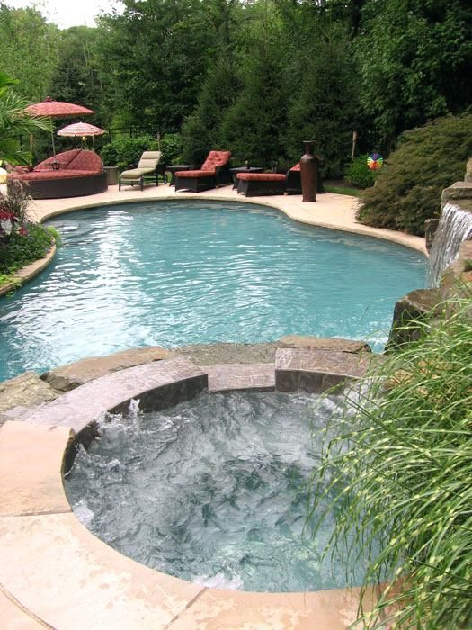 Easy And Simple Landscaping Ideas And Garden Designs Drawing Cheap Pool Landscaping Id Pool Landscape Design Swimming Pool Landscaping Swimming Pools Backyard