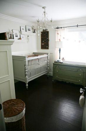 Vintage white decor for nursery