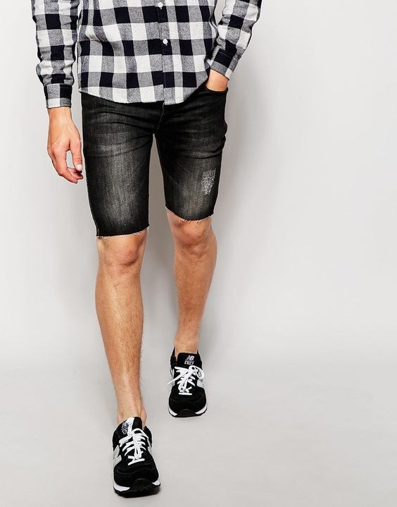 Antioch Denim Shorts With Distressing