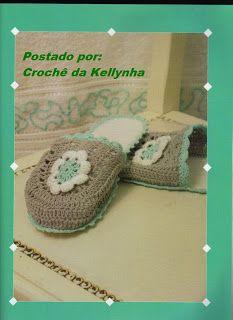 Crochê da Kellynha: Pantufas de Crochê