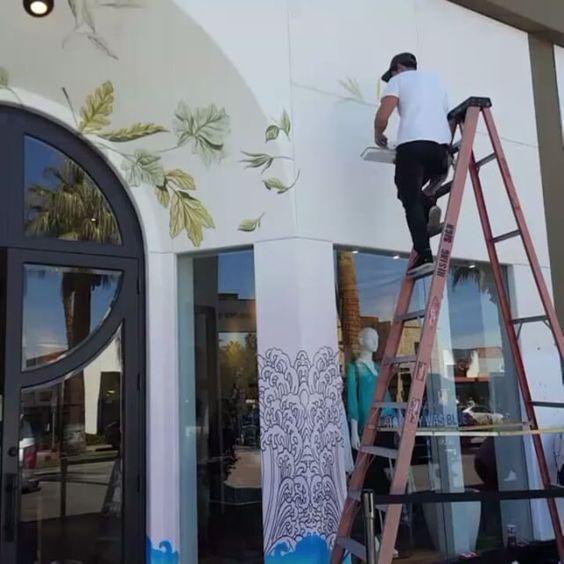 #handpaint   #mural   #johnnywas   #palmdesert: