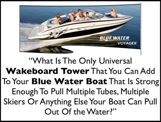 Barefoot Boom for your Blue Water