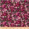 Liberty Of London Tana Lawn Manuela Hunter Green/light Pink/magenta