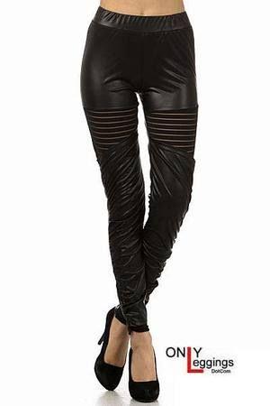 Avante Garde Faux Leather Leggings - $28.00 at OnlyLeggings.com - #onlyleggings